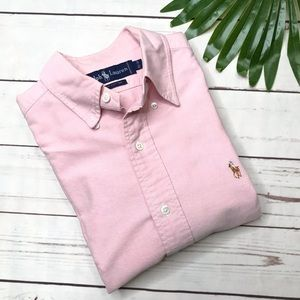 {Ralph Lauren} sz 15.5/ 34 pink oxford button down